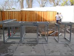 steel outdoor kitchen frames