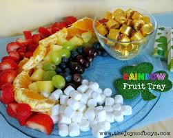How To Decorate Fruit Tray Rainbow Fruit Tray St Patrick's Day Food 50