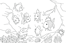 coloring pages of a rainbow best of coloring rainbow fish coloring page refrence rainbow fish color