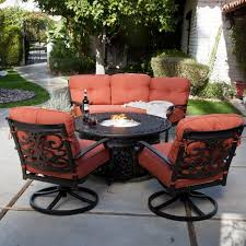 fire pit table with chairs. Fire Pit Table Set Awesome Patio Furniture With Elegant Outdoor Chairs