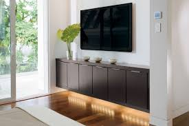 Oak Cabinets Living Room Furniture Living Room Design With Brown Oak Floating Media