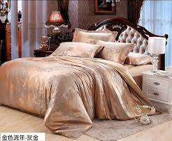 from china comforter sets for kids suppliers elegant gold grey tribute tencel silk jacquard comforter bedclothes duvet cover set queen king size