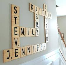 scrabble letter wall decor wall art with letters carved scrabble tiles wall art wall letters family anniversary scrabble wall art large scrabble letters