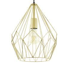 carlton gold open wire cage pendant light