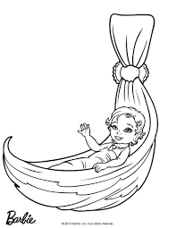 Baby Barbie Coloring Page
