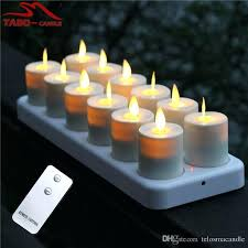 luminara set of 2 flameless window candles with timer rechargeable led tealight flickering luminara flameless candles