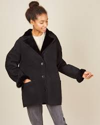 Patch pocket shearling jacket — <b>12Storeez</b>