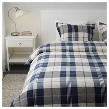 KUSTRUTA Quilt cover and 4 pillowcases Blue check 200x200/50x80 cm ... & IKEA KUSTRUTA quilt cover and 4 pillowcases Decorative buttons keep the  quilt in place. Adamdwight.com