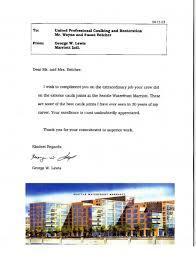 Customers Letters Premium Building Envelope And Restoration