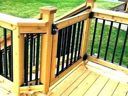 best outdoor safety gate baby in building a deck custom gates your size slat cedar made build sliding porch hardware dog b