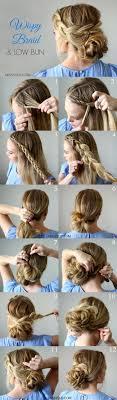 Best 25 Low Bun Braid Ideas On Pinterest Hair Updo Easy Short