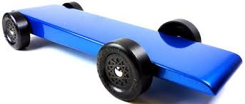 pinewood derby race cars built pinewood derby car the blue flash