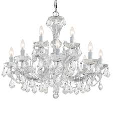 crystorama maria theresa 12 light clear italian crystal chandelier