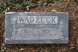 Ida Robertson Wadzeck (1871-1929) - Find A Grave Memorial
