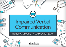 Stroke Communication Chart Impaired Verbal Communication Nursing Diagnosis Care
