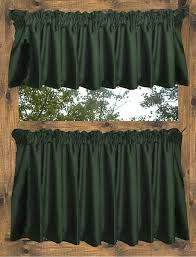 Hunter Green Kitchen Curtains