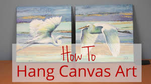 How To: Hang Canvas Art - Framed Art TV