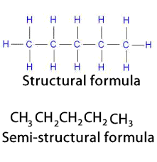 what is structural formula chemistry semi structural formulae