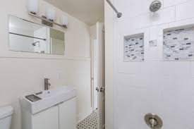 bathroom remodeling baltimore md. A Small Vanity Bathroom With Tile And White Walls Remodeling Baltimore Md
