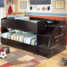 Twin Loft Bed with Caster Bed and Right Storage Steps by Signature