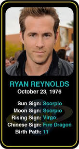 Ryan Reynolds Birth Chart 289 Best Famous Scorpios Images Famous Scorpios Birth