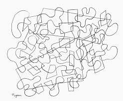 Adulto Da Colorare Pagina Puzzle Pezzi Uno Abstract Puzzle Etsy