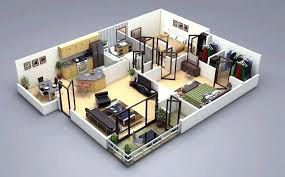 3d 2 bedroom house plans simple 2 bedroom house plans two bedroom house apartment floor plans