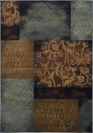 oriental weavers hudson rug oriental weavers blue brown area rug with free pad