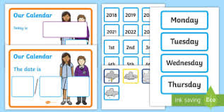 Date Chart For Classroom Weather Classroom Signs And Labels Primary Resources Weather