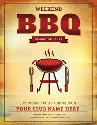 Free Party Flyer Templates Bbq Flyerte Photoshop Barbecue Party Free Fundraisertes
