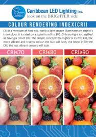 What Is The Colour Rendering Index Cri Caribbean Led