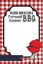 farewell summer printable bbq invitations printable bbq invitations