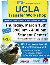Ucla Student Workshop Flier March 15 Weekly Update What