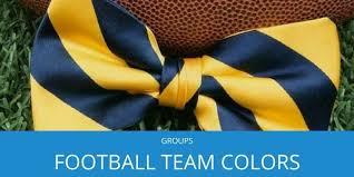 Football Team Colors Tiemart Inc Blog