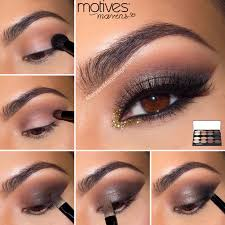 motives cosmetics element palette chocolate truffle smokey cat eye makeup tutorial