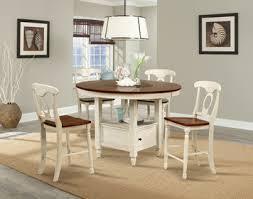 british isles round gathering height table in merlot buttermilk