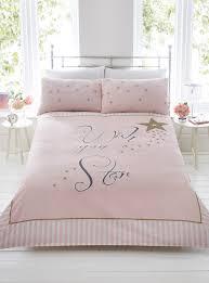 brilliant wish upon a star pink gold stripe duvet quilt cover bedding set rose gold bedding set plan