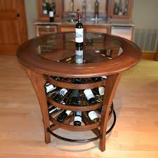 wine rack bar table. Bistro Bar Table Wine Rack Features Three Rotating Levels Which Can Hold Up To 54 Bottles