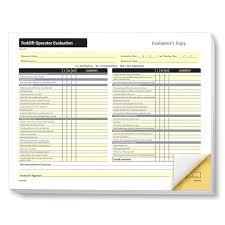Forklift Operator Evaluation Form