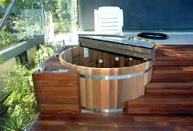 wood hot tub base how to build a wooden hot tub hot tub deck and design wood hot tub