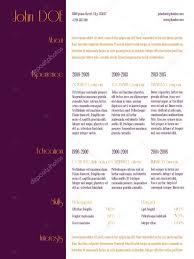 Simplistic Curriculum Vitae Resume Template With Purple Stripe