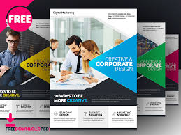 Free Download Brochure Download Free Business Flyer Template By Free Download Psd