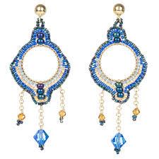 azuni bonita small chandelier earrings midnight