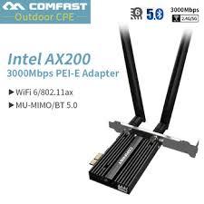 Dual Band 3000Mbps Wireless Desktop PCI-E For Intel AX200 Pro ...