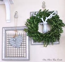 metal wall art frames with pully s galvanized heart and boxwood wreath with deer head at