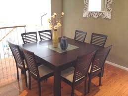 square kitchen table seats 8 with regard to beautiful dining and chairs what size chair decor 2