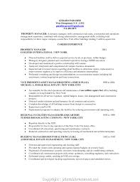 Cover Letter Downloadable Retail Property Manager Resume Commercial