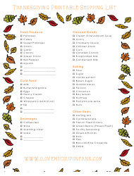 Thanksgiving Grocery List Template Thanksgiving List Template Magdalene Project Org