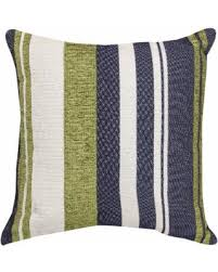 blue and green throw pillows. Green/ Blue/ White Striped Throw Pillow (18 X 18 - Medium) Blue And Green Pillows