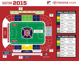Seating And Stadium Maps Chicago Fire Fc